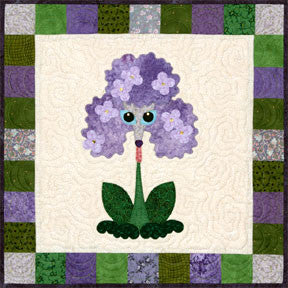 Lilac Lapdog  Pattern - StoryQuilts.com