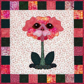 Pug Rose  Pattern - StoryQuilts.com
