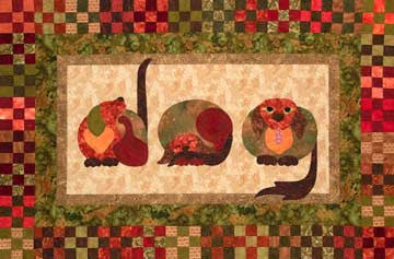 Dog - Spelling Beast  Pattern - StoryQuilts.com