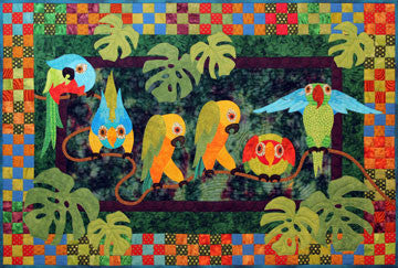 Spelling Beasts - Parrots  Pattern - StoryQuilts.com