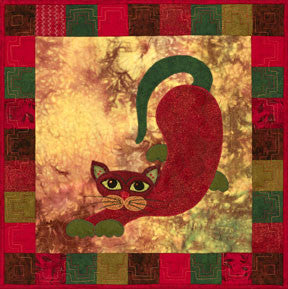 Poblano Puss - Garden Patch Cats  Pattern - StoryQuilts.com