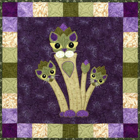 Aspurragus   Garden Patch Cats Pattern   StoryQuilts.com