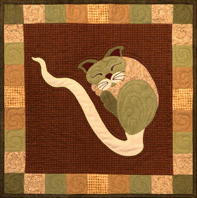 Spout Cat - Garden Patch Cats  Pattern - StoryQuilts.com