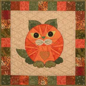 Kitty L'Orange & Bluepurry - Garden Patch Cats  Pattern - StoryQuilts.com