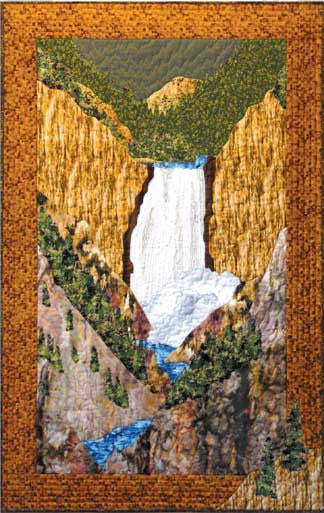 Yellowstone Falls  Pattern - StoryQuilts.com