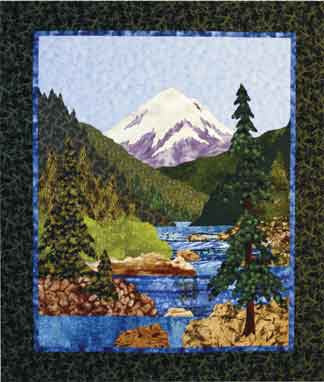 Mountain Stream  Pattern - StoryQuilts.com