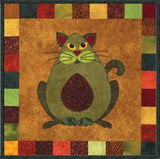 Avocato - Garden Patch Cats  Pattern - StoryQuilts.com