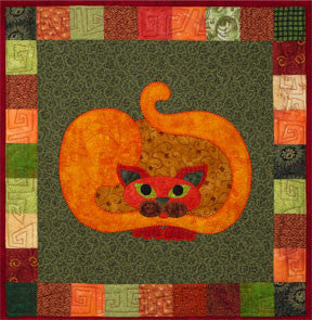 Pumpcat - Garden Patch Cats  Pattern - StoryQuilts.com