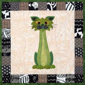 Stalker - Garden Patch Cats  Pattern - StoryQuilts.com