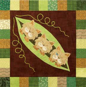 Podcats - Garden Patch Cats  Pattern - StoryQuilts.com