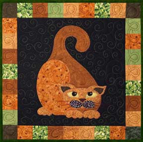 Gourdo Gato - Garden Patch Cats  Pattern - StoryQuilts.com