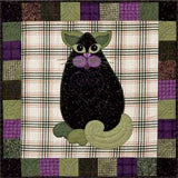 Eggplant Purr-mesan - Garden Patch Cats  Pattern - StoryQuilts.com