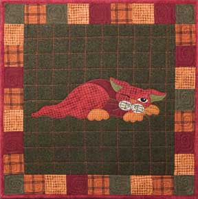 Yammy Cat - Garden Patch Cats  Pattern - StoryQuilts.com