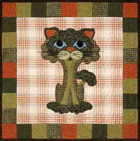 Broc-Kitty- Garden Patch Cats  Pattern - StoryQuilts.com