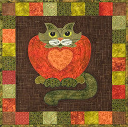 Purrsimmon - Garden Patch Cats  Pattern - StoryQuilts.com