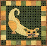 Bananna Cat - Garden Patch Cats  Pattern - StoryQuilts.com