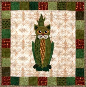 Cobby Cat - Garden Patch Cats  Pattern - StoryQuilts.com