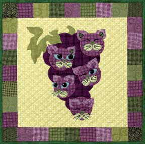 Concord Kitties - Garden Patch Cats  Pattern - StoryQuilts.com