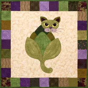 Le Arti-Chat - Garden Patch Cats  Pattern - StoryQuilts.com