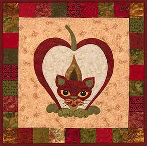 Pippen Puss - Garden Patch Cats  Pattern - StoryQuilts.com