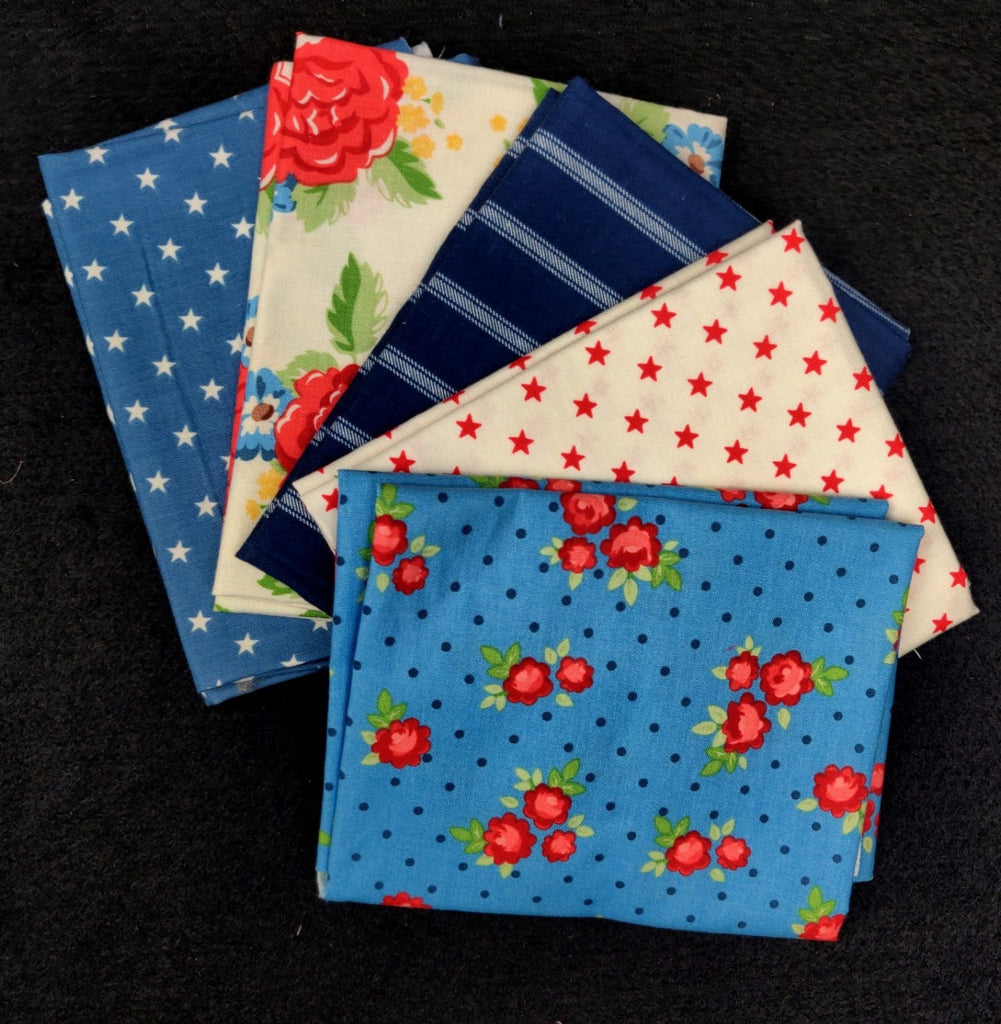 Harry and Alice 5 Assorted Fat Quarters  Fabric - StoryQuilts.com