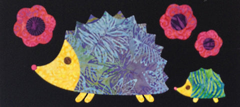 Woodland Critters - 2 Hedgehogs  Pattern - StoryQuilts.com
