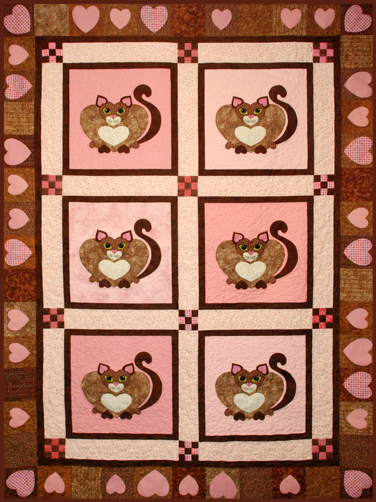 I Love My Kitty  Pattern - StoryQuilts.com