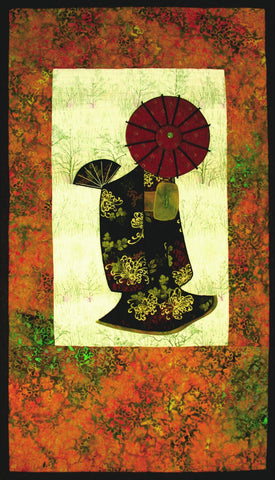 Japanese Lady  Pattern - StoryQuilts.com