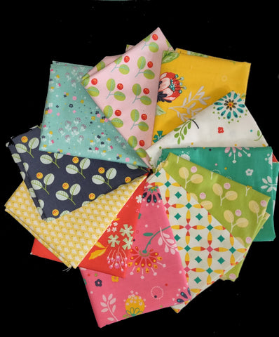 Jubilee 11 Assorted Fat Quarters  Fabric - StoryQuilts.com