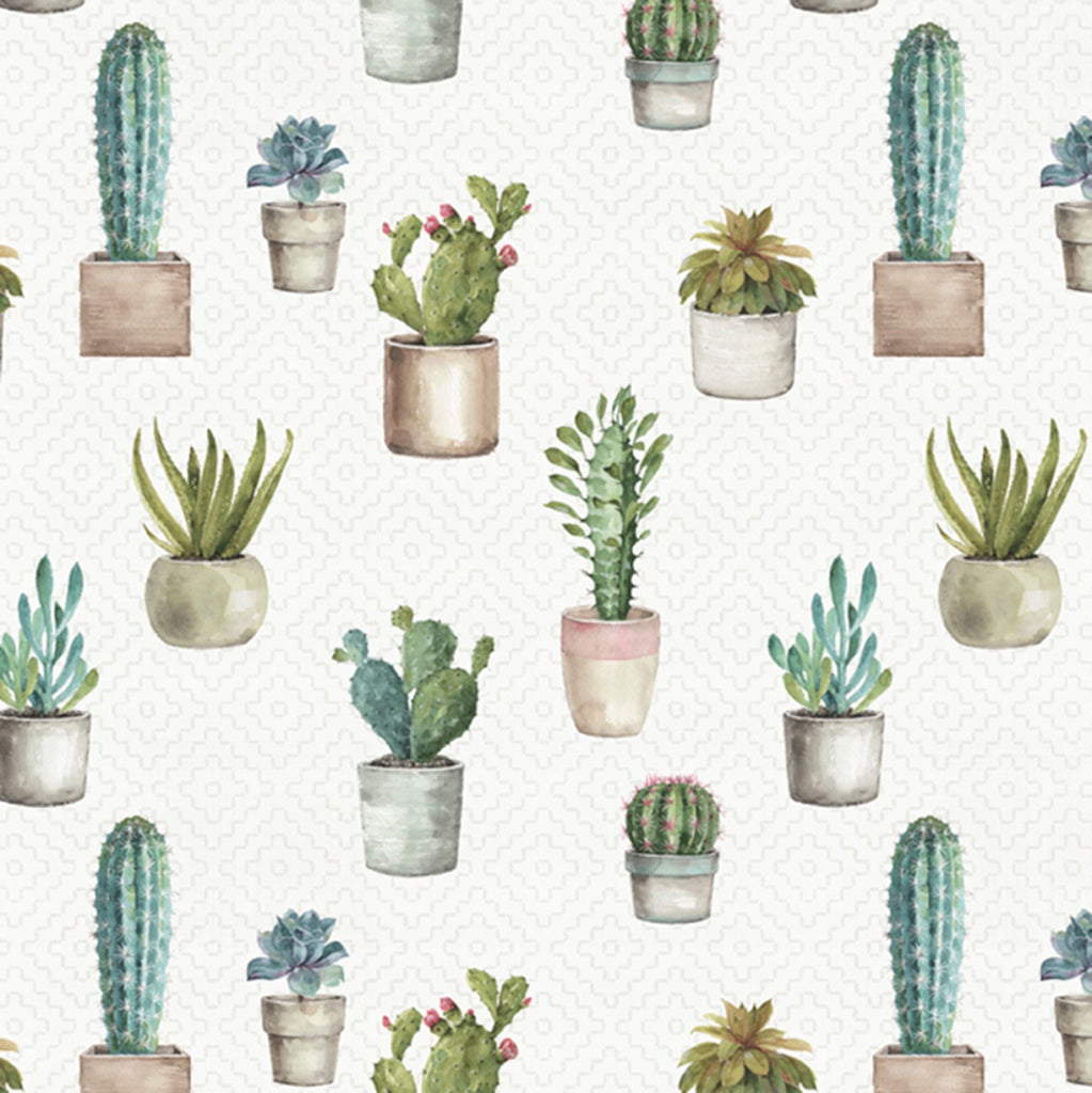 Cactus Garden Verde by David Textiles  Fabric - StoryQuilts.com