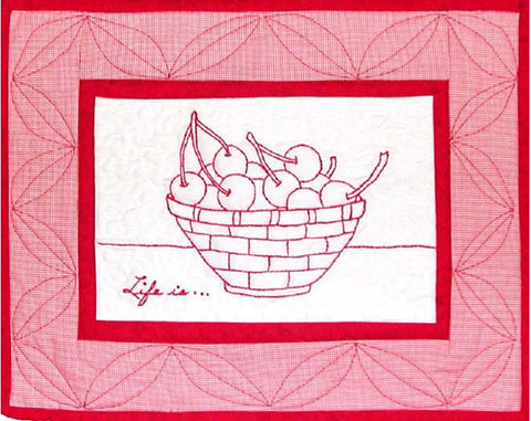 Life Is . . . - Redwork  Pattern - StoryQuilts.com