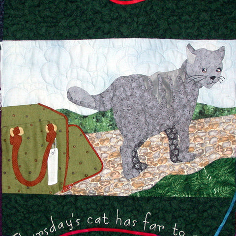 Thursday's Cat - Block 4  Pattern - StoryQuilts.com