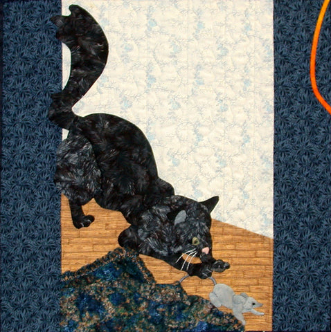 Saturday's Cat - Block 6  Pattern - StoryQuilts.com