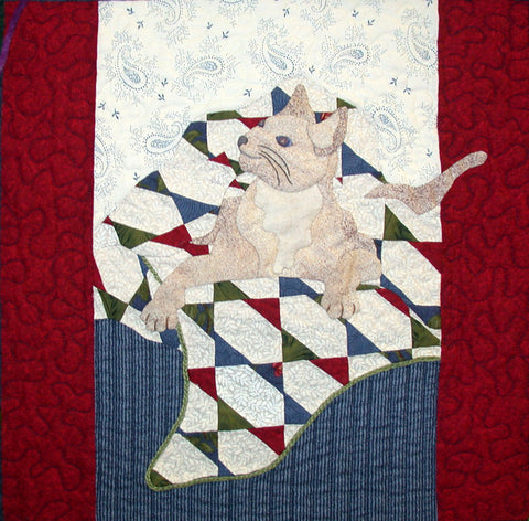 Sunday's Cat - Block 7  Pattern - StoryQuilts.com