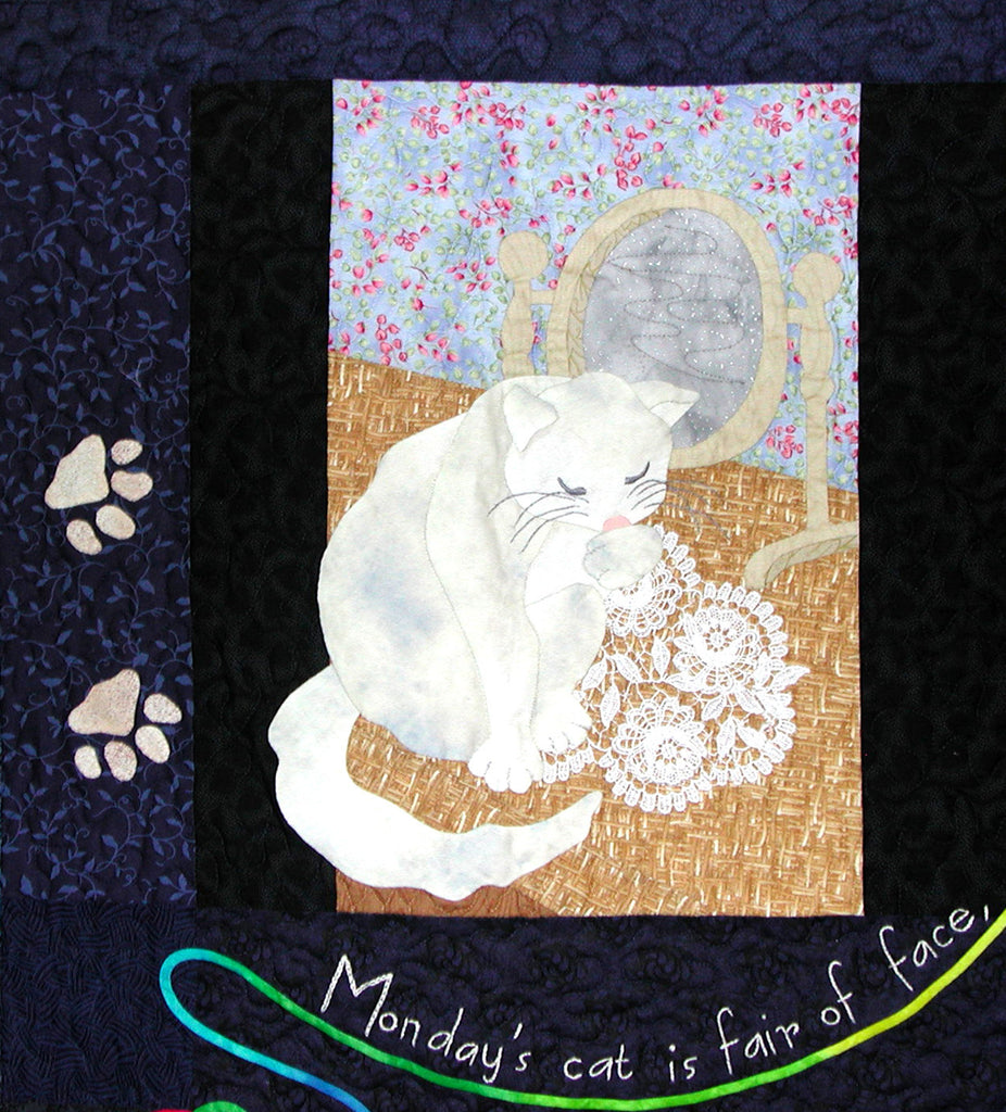 Monday's Cat - Block 1  Pattern - StoryQuilts.com