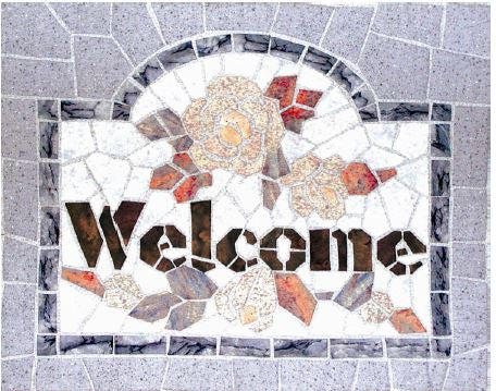 Mosaic Welcome  Pattern - StoryQuilts.com