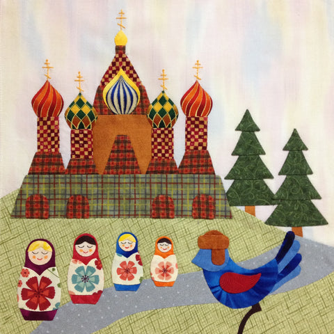 Bluebird Travel Agency - 5 Moscow  Pattern - StoryQuilts.com
