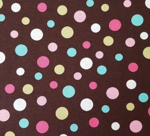 Crazy for Dots Multicolor on Brown by RJR  Fabric - StoryQuilts.com