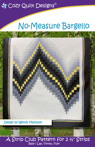 Cozy Strip Club - No-Measure Bargello  Pattern - StoryQuilts.com