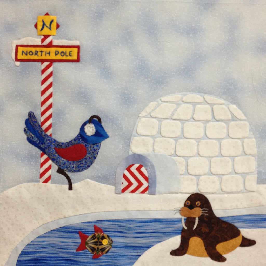 Bluebird Travel Agency - 6 North Pole  Pattern - StoryQuilts.com