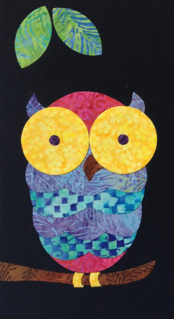 Woodland Critters - 3 Night Owl  Pattern - StoryQuilts.com