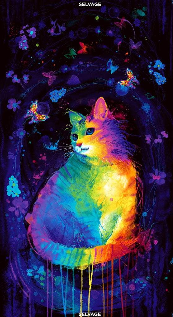"24"" MEOWZA MYSTICAL CAT PANEL"