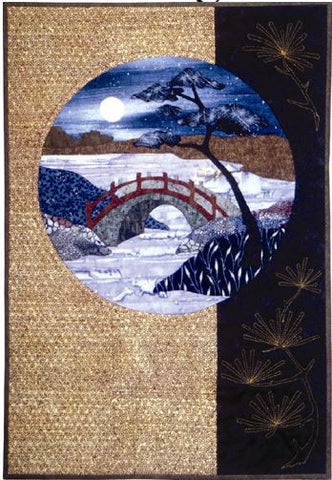 Postcards from Japan - Bridge  Pattern - StoryQuilts.com
