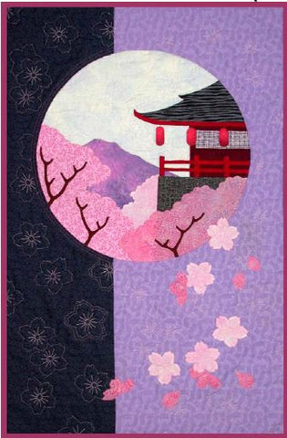 Postcards from Japan - Orchid Temple  Pattern - StoryQuilts.com
