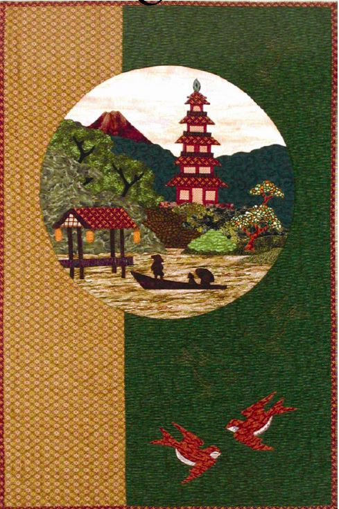 Postcards from Japan -Pagoda  Pattern - StoryQuilts.com