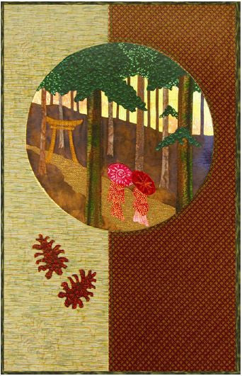 Postcards from Japan - Sacred Grove  Pattern - StoryQuilts.com