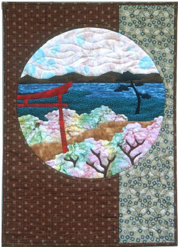 Postcards from Japan - Tori Gate  Pattern - StoryQuilts.com