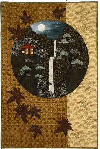 Postcards from Japan - Waterfall  Pattern - StoryQuilts.com