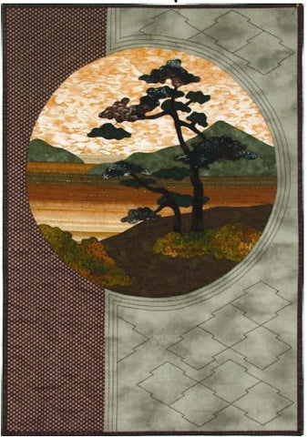 Postcards from Japan - WIndswept Tree  Pattern - StoryQuilts.com
