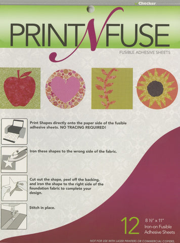 Print n' Fuse 8-1/2in x 11in Inkjet Fusible Sheets  Notion - StoryQuilts.com